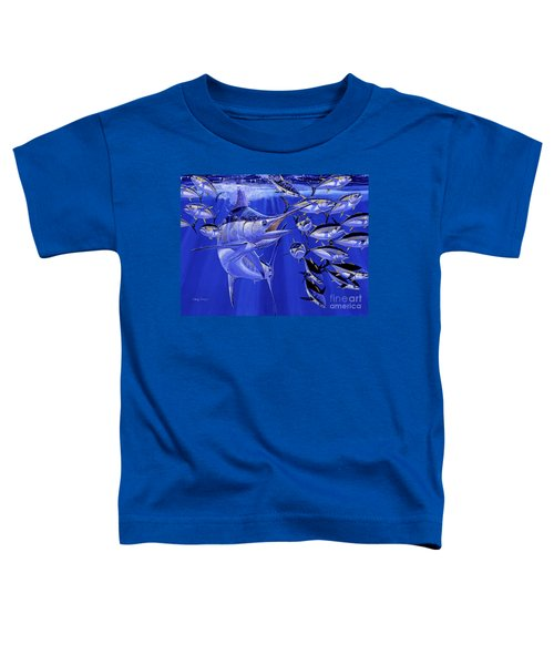 Blue Marlin Round Up Off0031 Toddler T-Shirt by Carey Chen