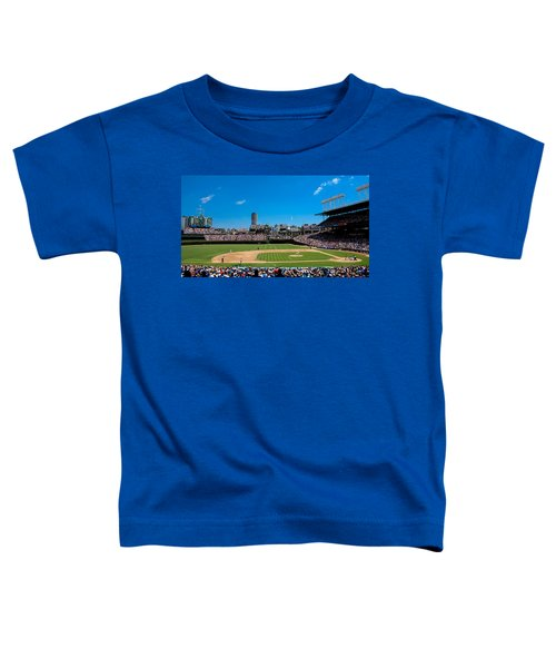 Day Game At Wrigley Field Toddler T-Shirt by Anthony Doudt