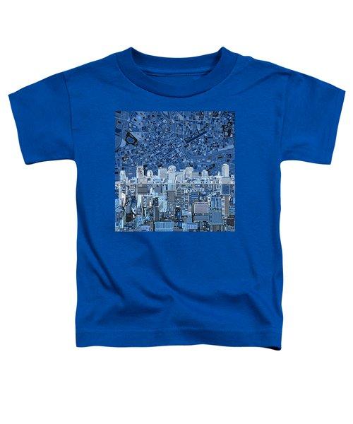 Nashville Skyline Abstract Toddler T-Shirt by Bekim Art