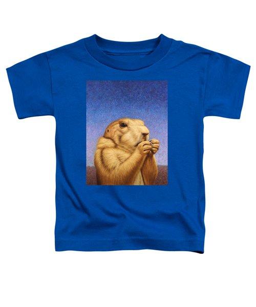 Prairie Dog Toddler T-Shirt by James W Johnson