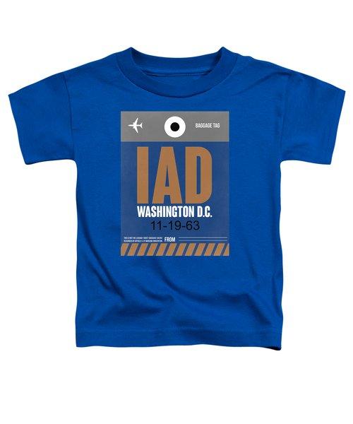 Washington D.c. Airport Poster 4 Toddler T-Shirt by Naxart Studio