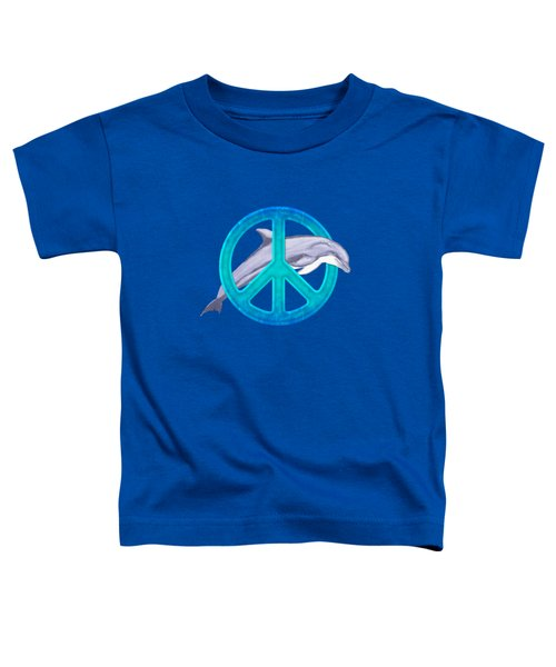 Dolphin Peace Toddler T-Shirt by Chris MacDonald