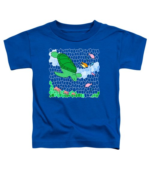 Turtle And Friends Toddler T-Shirt by Methune Hively