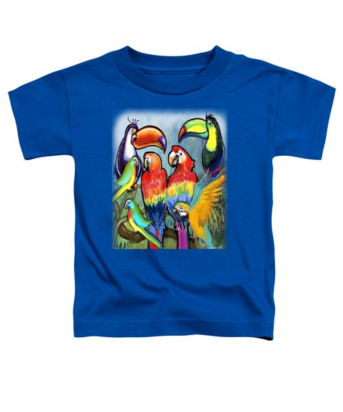 Tropical Birds Toddler T-Shirt by Kevin Middleton