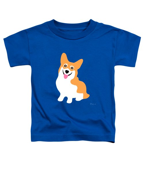 Smiling Corgi Pup Toddler T-Shirt by Antique Images