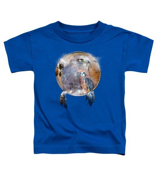 Dream Catcher - Hawk Spirit Toddler T-Shirt by Carol Cavalaris