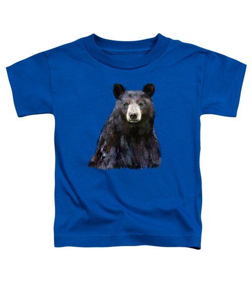 Black Bear Toddler T-Shirt by Amy Hamilton