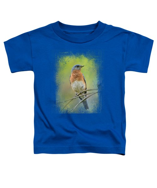 Bluebird On A Spring Day Toddler T-Shirt by Jai Johnson