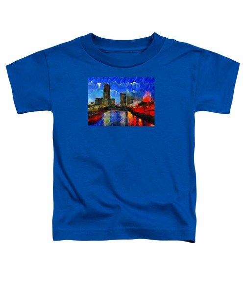 City Living - Tokyo - Skyline Toddler T-Shirt by Sir Josef Social Critic - ART