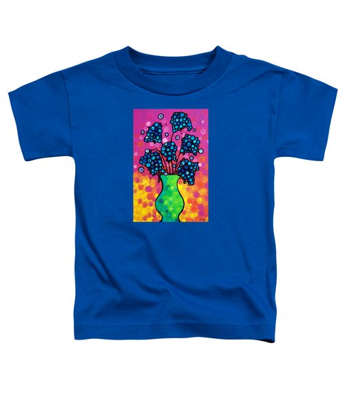 Colorful Flower Bouquet By Sharon Cummings Toddler T-Shirt by Sharon Cummings