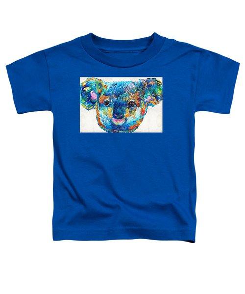 Colorful Koala Bear Art By Sharon Cummings Toddler T-Shirt by Sharon Cummings