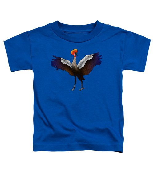 Crowned Crane Toddler T-Shirt by Dusty Conley