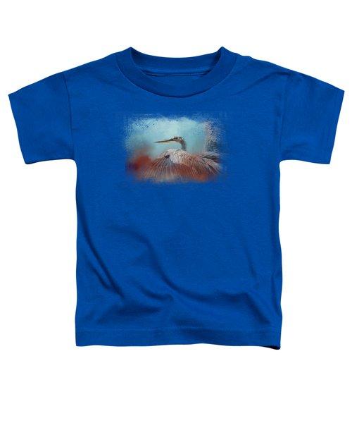 Emerging Heron Toddler T-Shirt by Jai Johnson