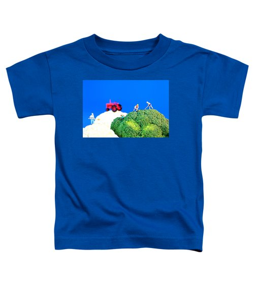 Farming On Broccoli And Cauliflower II Toddler T-Shirt by Paul Ge