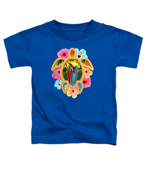 Hawaiian Surfboard Sunset Toddler T-Shirt by Chris MacDonald