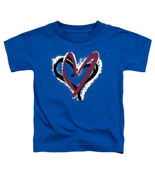 Hearts Graphic 6 Toddler T-Shirt by Melissa Smith