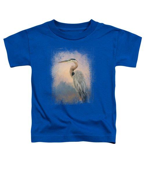 Heron On The Rocks Toddler T-Shirt by Jai Johnson
