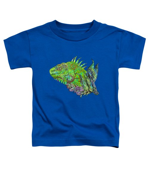 Iguana Cool Toddler T-Shirt by Carol Cavalaris