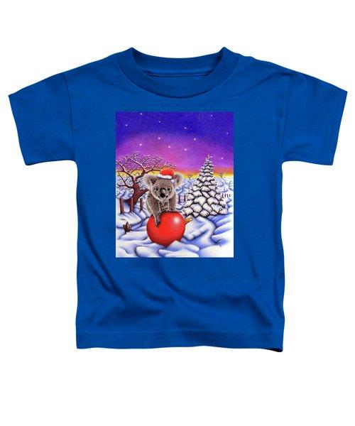 Koala On Christmas Ball Toddler T-Shirt by Remrov