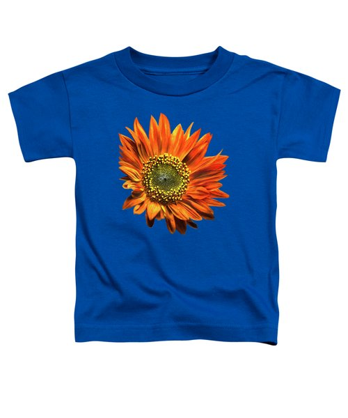 Orange Sunflower Toddler T-Shirt by Christina Rollo