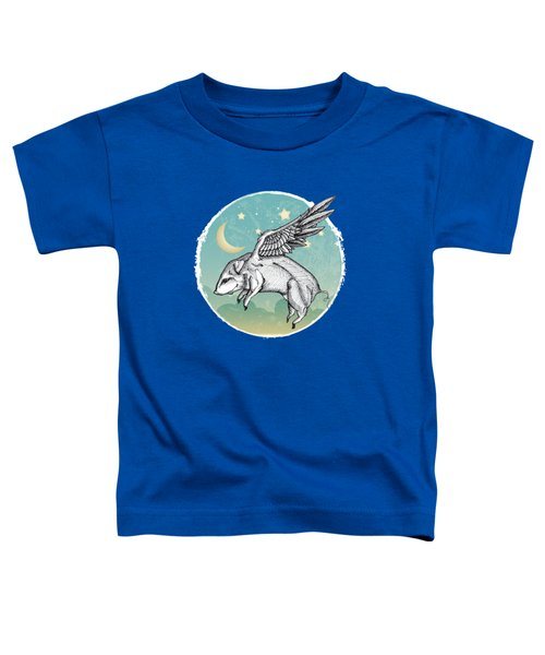 Pigs Fly - 2 Toddler T-Shirt by Mary Machare