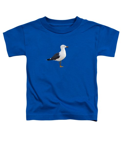 Seagull Portrait Toddler T-Shirt by Sue Melvin