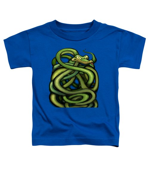 Snakes Toddler T-Shirt by Kevin Middleton