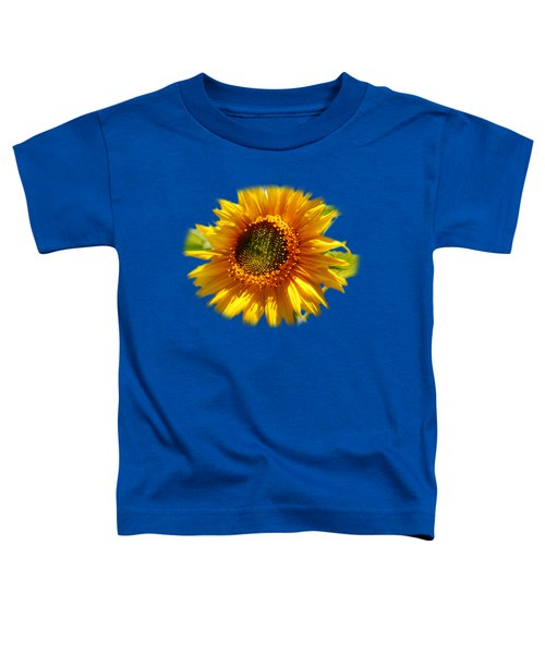Sunny Sunflower Square Toddler T-Shirt by Christina Rollo