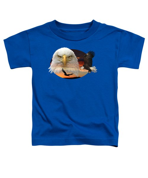 The Bald Eagle 2 Toddler T-Shirt by Shane Bechler