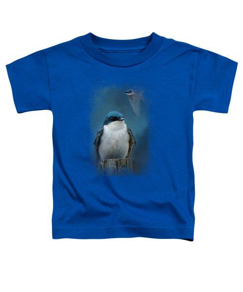 The Beautiful Tree Swallow Toddler T-Shirt by Jai Johnson