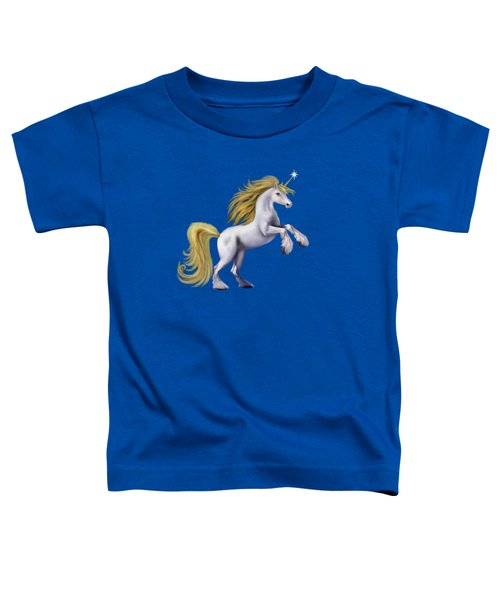 The Golden Unicorn Toddler T-Shirt by Glenn Holbrook