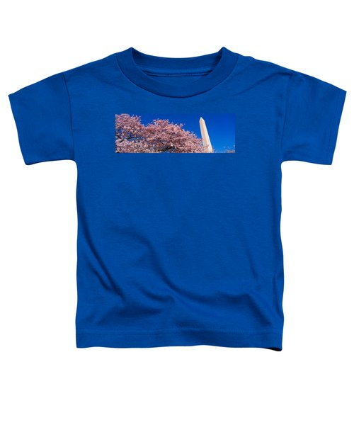 Washington Monument & Spring Cherry Toddler T-Shirt by Panoramic Images