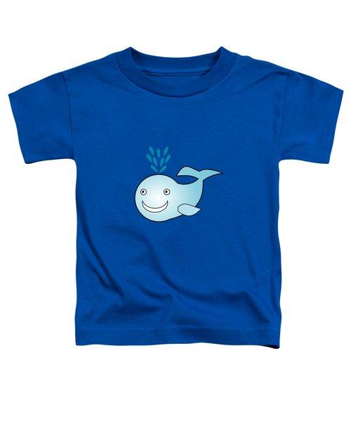 Whale - Animals - Art For Kids Toddler T-Shirt by Anastasiya Malakhova