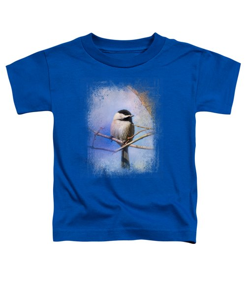 Winter Morning Chickadee Toddler T-Shirt by Jai Johnson