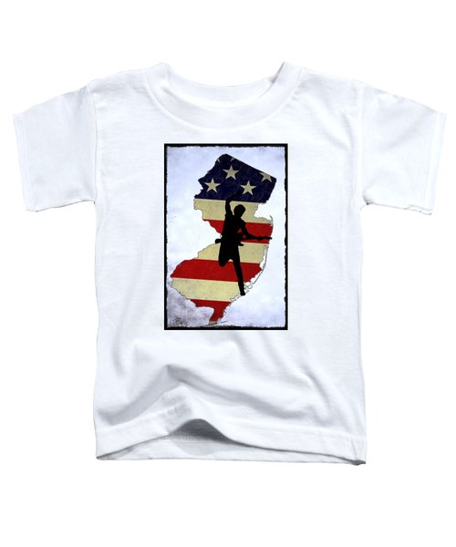 Born In New Jersey Toddler T-Shirt by Bill Cannon