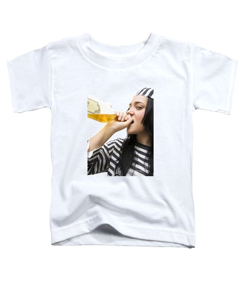 Drinking Detainee Toddler T-Shirt by Jorgo Photography - Wall Art Gallery