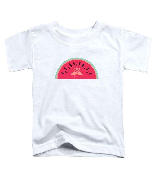 Flamingo Watermelon Toddler T-Shirt by Susan Claire