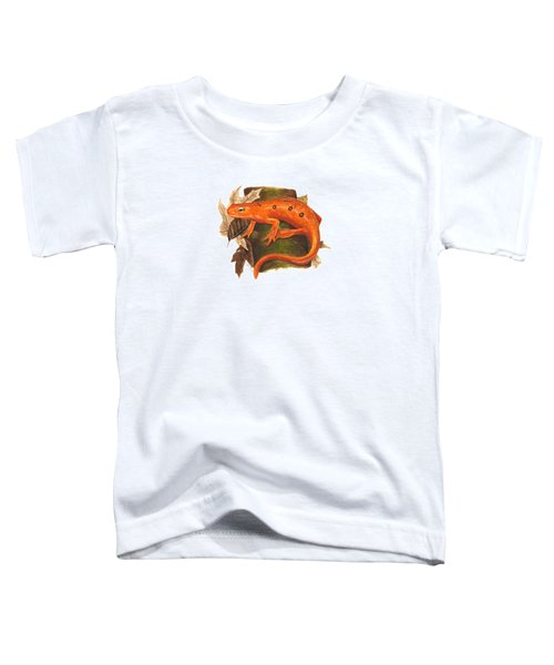 Red Eft Toddler T-Shirt by Cindy Hitchcock