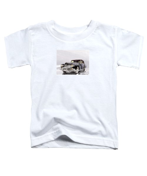 1946 Lincoln Continental Convertible Foggy Reflection Toddler T-Shirt by Jack Pumphrey
