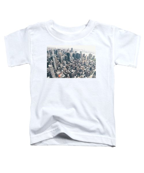 New York City From Above Toddler T-Shirt by Vivienne Gucwa