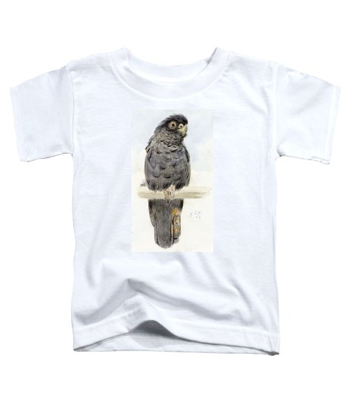 A Black Cockatoo Toddler T-Shirt by Henry Stacey Marks