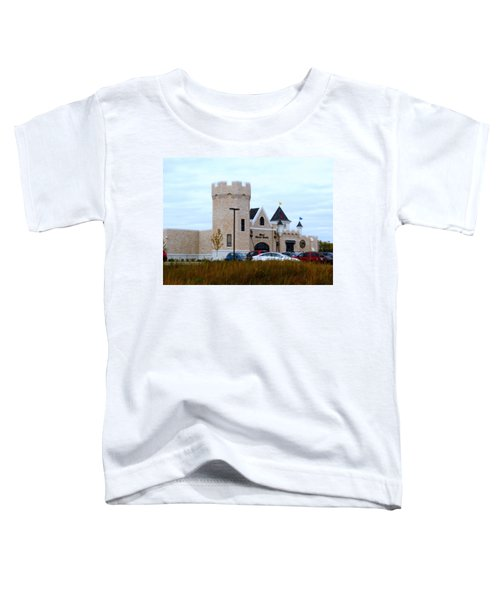 A Cheese Castle Toddler T-Shirt by Kay Novy