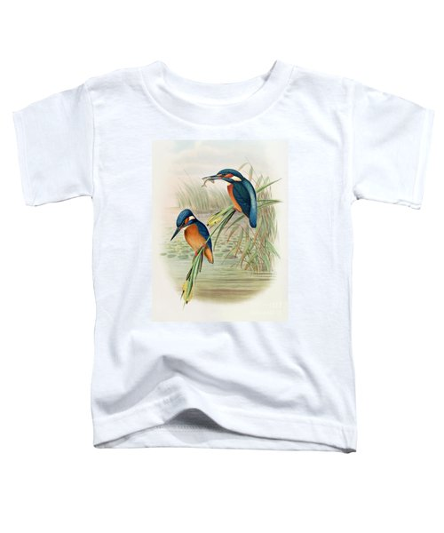 Alcedo Ispida Plate From The Birds Of Great Britain By John Gould Toddler T-Shirt by John Gould William Hart