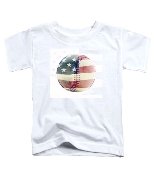American Baseball Toddler T-Shirt by Terry DeLuco