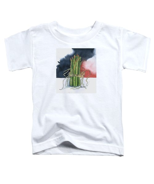 Asparagus In Raffia Toddler T-Shirt by Maria Hunt