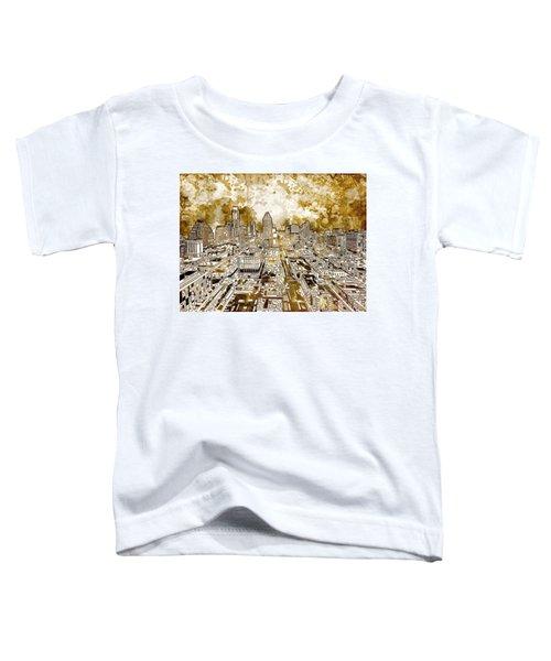 Austin Texas Abstract Panorama 6 Toddler T-Shirt by Bekim Art