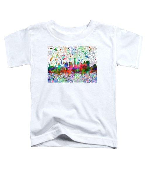 Austin Texas Abstract Panorama 7 Toddler T-Shirt by Bekim Art