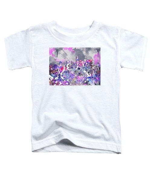 Austin Texas Watercolor Panorama2 Toddler T-Shirt by Bekim Art