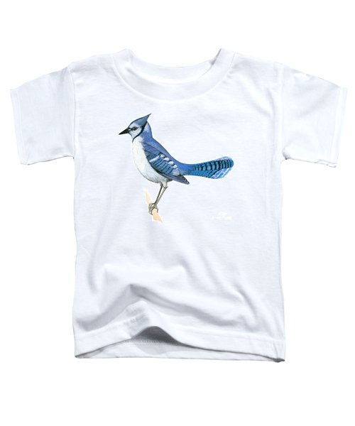 Blue Jay  Toddler T-Shirt by Anonymous