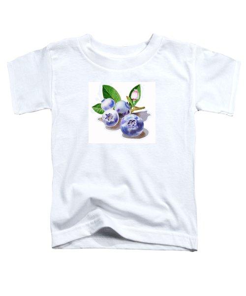 Artz Vitamins The Blueberries Toddler T-Shirt by Irina Sztukowski